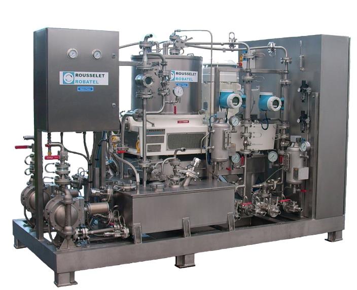 rousselet robatel centrifuge skid electrical cabinet inerting